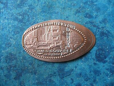 TIMES SQUARE NEW YORK CITY Elongated Penny Pressed Smashed 21