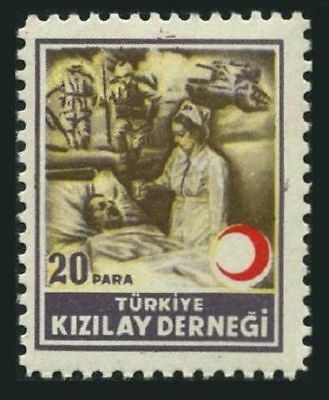 Turkey RA 85 block/4,MNH. Postal Tax Stamps 1947.Nurse & wounded soldier.