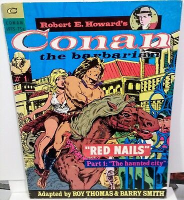 Conan the Barbarian Red Nails 1 - 3 Robert E Howard 1975 Very Very Rare Comics