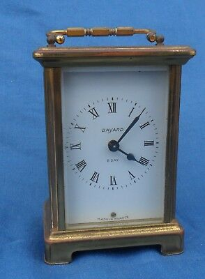 Tatty Vintage French Bayard 8 day Carriage Clock- Spares or Repair