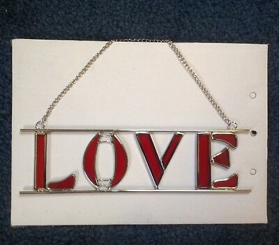 """Valentine Stained Glass """"Love"""""""