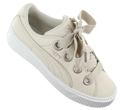 269f17118f655a NEW Puma Platform Kiss Leather 366460-02 Women Shoes Trainers Sneakers SALE