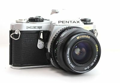 PENTAX ME Super SLR Camera With Miranda 28mm F/2.8 Lens - L09