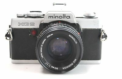 MINOLTA XG2 SLR Camera With Minolta MD 50mm f/1.7 Lens  - F11