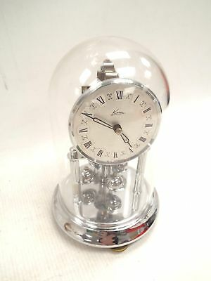 Vintage Kern West Germany Metal Carriage Clock In Dome. No Key  - S98