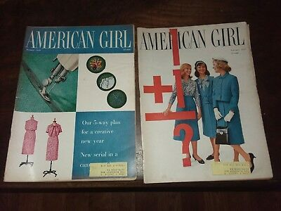 Lot of 6 THE AMERICAN GIRL Magazines 1959 January through June! Great Set!