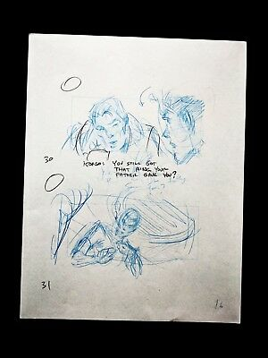 Titan A.E. (2000 Film) Production Hand Drawn Animation Storyboard Page DON BLUTH