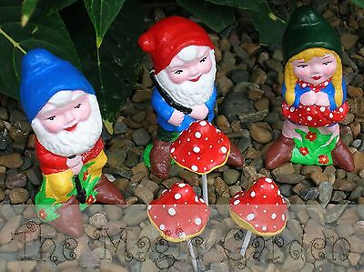Boy and Girl Gnomes Latex Moulds Molds Garden Ornaments Cement Plaster Concrete.