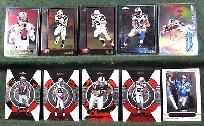 Lot of 20 Carolina Panthers w/ Fred Lane, Steve Smith, Stephen Davis Inv#N046