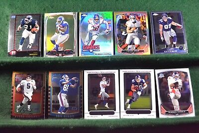 Lot of 20 N.Y. Giants w/ Plaxico Burress, Ron Dixon, Steve Smith Inv#N036