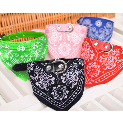 Adjustable Pet Cat Dog Puppy Supply Neck Scarf Bandana with Collar Neckerchief