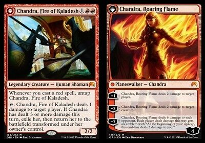 1x Chandra, Fire of Kaladesh // Chandra, Roaring Flame MTG Magic Origins NM Magi