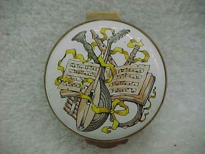 Crummles (England) Enamel Box with Musical Instruments -- MINT