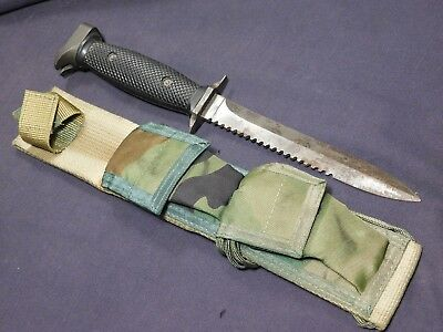 Vintage 1980s Imperial M7S Survival Fighting Knife Dagger w/Scabbard M3 US M3