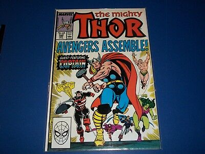 The Mighty Thor #390 Captain America 100 Homage VF/NM Beauty 1st Print Avengers!