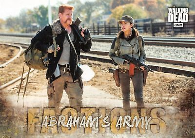Walking Dead Road To Alexandria FACTIONS Insert Card F-4 / ABRAHAM'S ARMY