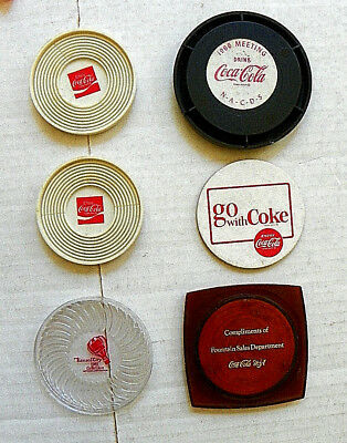 "(Lot Of 6) Early ""coca-Cola"" Coaster Items"
