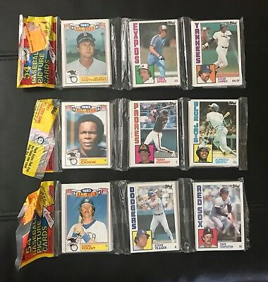 1984 Topps Baseball Rack Pack Lot of 3 Don Mattingly Darryl Strawberry Rookie RC