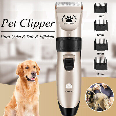 Electric Cat Dog Pet Shave Clipper Hair Low Noise Cordless Grooming Trimming Kit