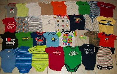 Baby Boys Clothes/Bodysuits Lot of 32 Size 3-6/6 Months Spring/Summer