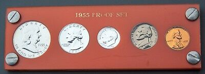 1955 US Mint Proof Set in Orange Acrylic Holder (101450)
