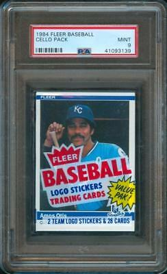 1984 Fleer BASEBALL CARD Unopened Cello Pack GAYLORD PERRY Showing PSA 9