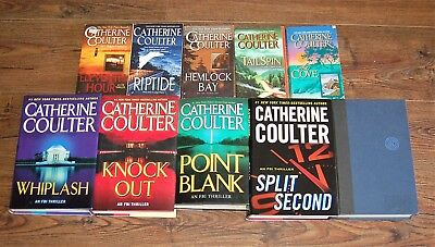 Catherine Coulter FBI Series Book Lot of 10 ~ 5 HC,5 SC