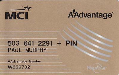 From the Past MCI/AAdvantage Calling Card.  Very Little Signs of Use.