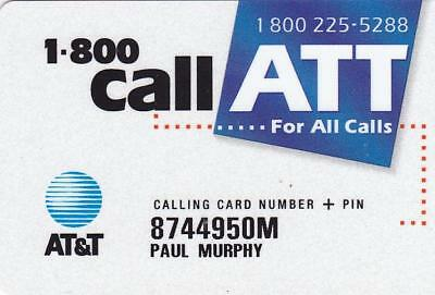 Old School Call ATT Calling Card.  Very Little Signs of Use.