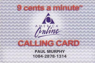 Long Gone.    AOL Calling Card.  Mint Condition