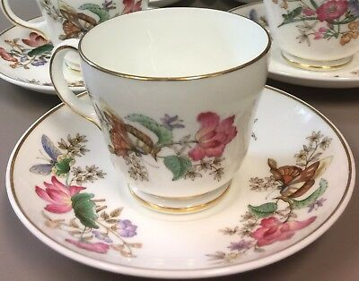 Set of 6 Wedgwood SANDON Trio Tea Cup & Saucer With Dessert & Pie Plate WD 4010