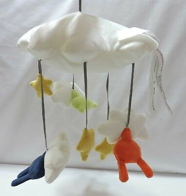 Ikea Himmelsk Mobile Plush Clouds Animals Stars Multicolor Soft Baby