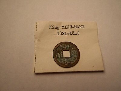 """Vintage Vietnam Coin Early 1800s - Identifed as """"King Minh-Mang 1821-1840"""""""