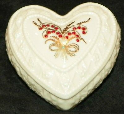 1994 Lenox China Treasures Collection Jewels Design Heart
