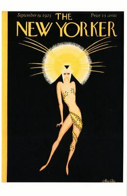Art Deco Showgirl Costume on 1925 The New Yorker Magazine Postcard