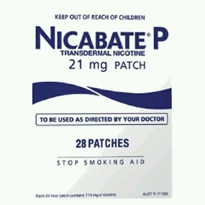 NiCABATE 21mg Anti Smoking Patch 28 Patches 12 /20 NEW