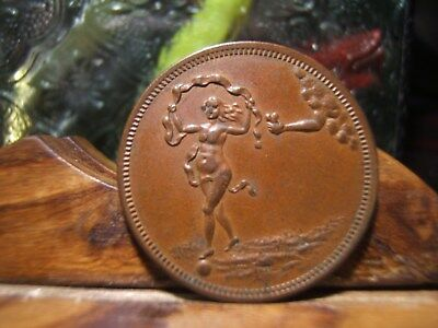 Magician Token Nude Lady   Made By The Whitehead & Hoag Company Of Newark, N.J.