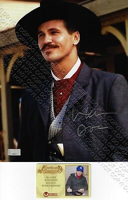 8x10 SIGNED AUTOGRAPHED PHOTO PICTURE VAL KILMER DOC HOLLIDAY TOMBSTONE TOP GUN