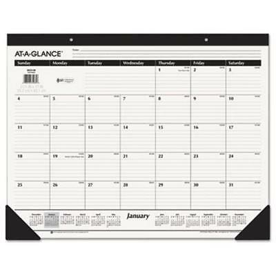 "At-A-Glance Recycled Desk Calendar, 22"" x 17"", 2019 (AAGSK2400)"