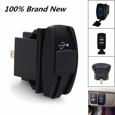 12-24V 3.1A Dual LED USB Car Auto Power Supply Charger Port Socket Waterproof JT