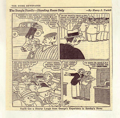 The Bungle Family by Harry Tuthill - 13 daily comic panels from June 1938