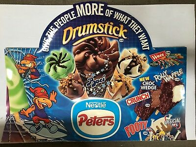 Peters Nestle Ice Cream Vintage Shop Vinyl Advertising Display