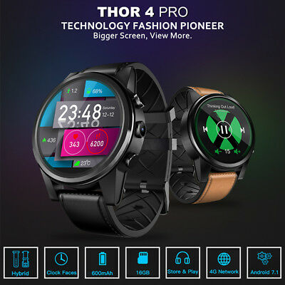 Zeblaze Thor 4 PRO 4G Smart Watch Phone Quad Core 1+16GB Heart Rate Wifi GPS AU