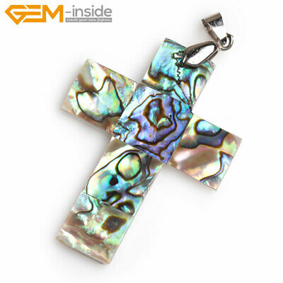 Women Natural Abalone Shell Butterfly Tortoise Cross Pendant For Necklace Gift