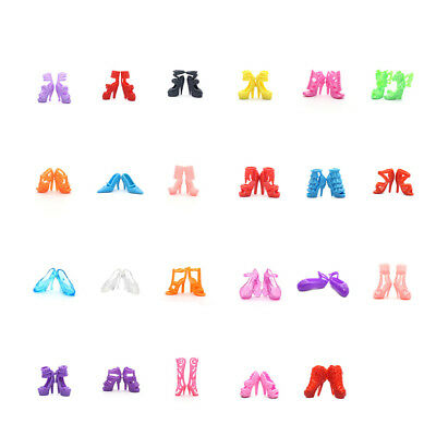 20Pairs/Set  Fashion High Heels Barbie Shoes Sandals Doll Shoes For Dolls Toy