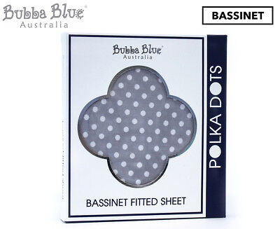 Bubba Blue Polka Dots Bassinet Fitted Sheet - Grey