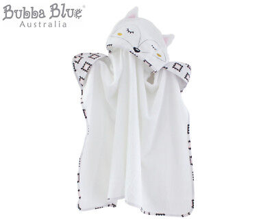 Bubba Blue Miss Fox Novelty Hooded Towel - White
