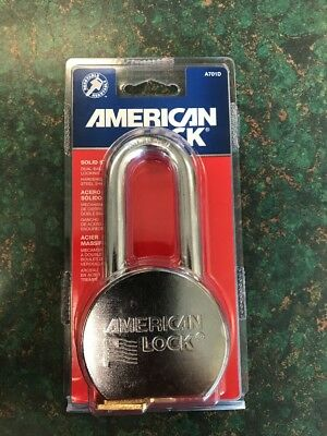 American Lock A701D High Security Padlock, 2in. Hardened Solid Steel Shackle