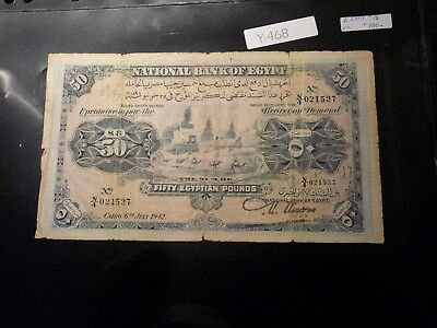 Banknote Egypt 50 Egyptian Pounds 1942        Y468
