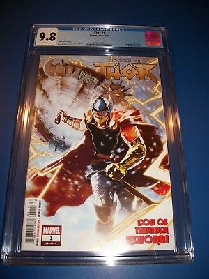 Thor #1 New Series CGC 9.8 NM/M Gorgeous Gem Legacy 707 Mighty Avengers WOW!